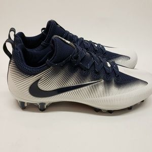 Nike Blue and White Vapor Low Football Cleats
